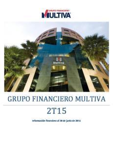GRUPO FINANCIERO MULTIVA 2T15