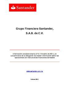 Grupo Financiero Santander, S.A.B. de C.V