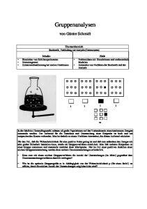 Gruppenanalysen. von Günter Schmidt. Themenbereich Stochastik, Verbindung zur Analysis (Extremwerte)