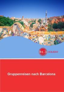 Gruppenreisen nach Barcelona