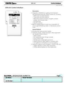 GRX-AV Control Interface