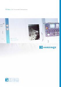 GS-Serie CNC Horizontal-Drehmaschinen. GS-Series TURNING MILLING GRINDING ROTARY