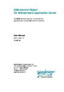 GSM-Control Object for Wonderware Application Server