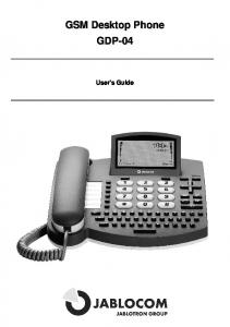 GSM Desktop Phone GDP-04 User's Guide