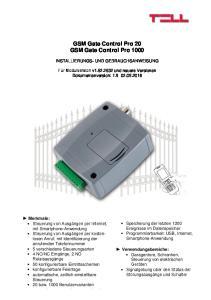 GSM Gate Control Pro 20 GSM Gate Control Pro 1000
