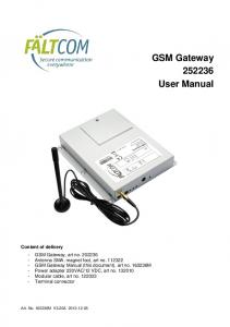GSM Gateway User Manual