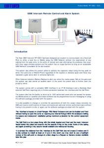 GSM Intercom Remote Control and Alarm System