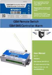 GSM Remote Switch GSM SMS Controller Alarm