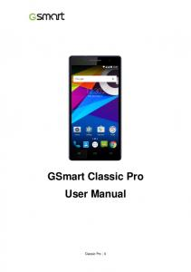 GSmart Classic Pro User Manual