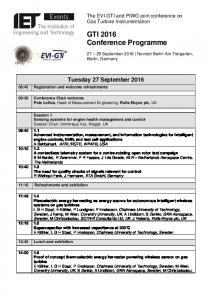 GTI 2016 Conference Programme
