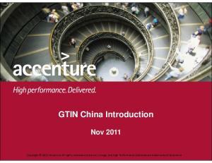GTIN China Introduction Nov 2011