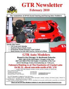 GTR Newsletter February 2010