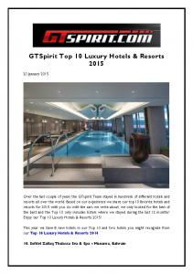 GTSpirit Top 10 Luxury Hotels & Resorts 2015