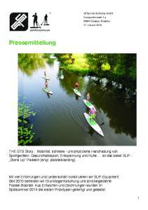 GTSports Vertriebs GmbH Humperdinckstr. 1a Dessau-Rosslau 17. Januar Pressemitteilung