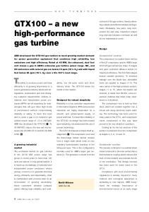 GTX100 a new high-performance gas turbine