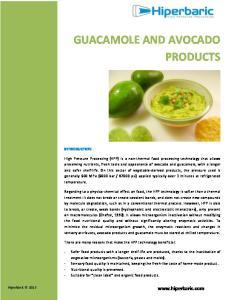 GUACAMOLE AND AVOCADO PRODUCTS