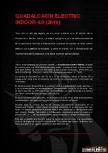 GUADALCACÍN ELECTRIC INDOOR 4.0 (2016)
