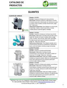 GUANTES CATALOGO DE PRODUCTOS