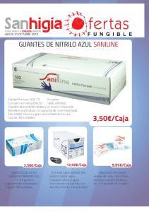 GUANTES DE NITRILO AZUL SANILINE