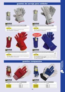 guantes de serraje para soldador