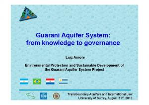 Guarani Aquifer System: from knowledge to governance