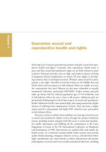 Guarantee sexual and reproductive health and rights