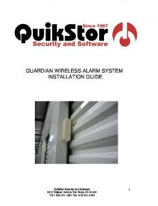 GUARDIAN WIRELESS ALARM SYSTEM INSTALLATION GUIDE