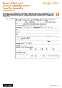 Guardianship Order Registration form