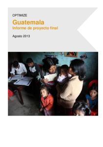 Guatemala Informe de proyecto final