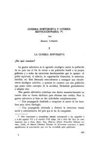 GUERRA SUBVERSIVA Y GUERRA REVOLUCIONARIA (*) LA GUERRA SUBVERSIVA