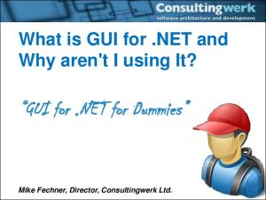 GUI for.net for Dummies