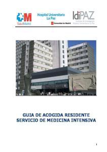 GUIA DE ACOGIDA RESIDENTE SERVICIO DE MEDICINA INTENSIVA