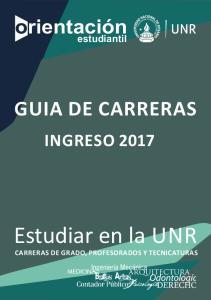 GUIA DE CARRERAS INGRESO