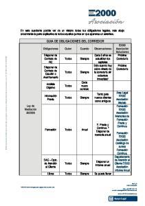 GUIA DE OBLIGACIONES DEL CORREDOR