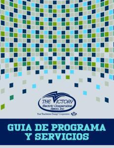 GUIA DE PROGRAMA Y SERVICIOS