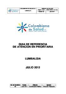 GUIA DE REFERENCIA DE ATENCION EN PRIORITARIA