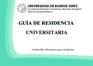 GUÍA DE RESIDENCIA UNIVERSITARIA