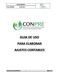 GUIA DE USO PARA ELABORAR AJUSTES CONTABLES