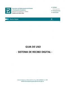 GUIA DE USO - SISTEMA DE RECIBO DIGITAL -