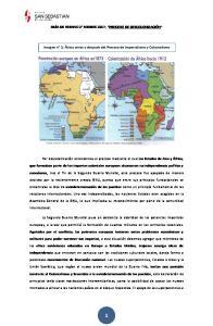 GUÍA DE VERANO 2 MEDIOS 2017; PROCESO DE DESCOLONIZACIÓN. Imagen n 1; África antes y después del Proceso de Imperialismo y Colonialismo