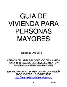 GUIA DE VIVIENDA PARA PERSONAS MAYORES