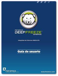 Guia del usuario de Deep Freeze Enterprise