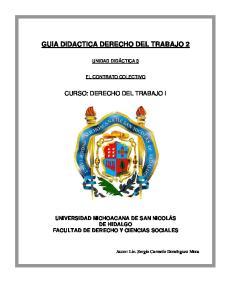 GUIA DIDACTICA DERECHO DEL TRABAJO 2