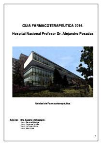 GUIA FARMACOTERAPEUTICA Hospital Nacional Profesor Dr. Alejandro Posadas