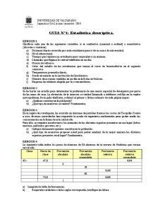 GUIA N 1: Estadistica descriptiva