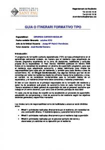 GUIA O ITINERARI FORMATIVO TIPO