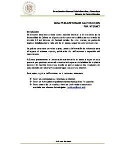 GUIA PARA CAPTURA DE CALIFICACIONES POR INTERNET