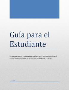 Guía para el Estudiante