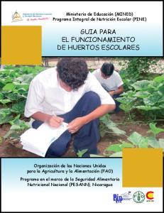 GUIA PARA EL FUNCIONAMIENTO DE HUERTOS ESCOLARES