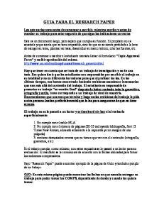 GUIA PARA EL RESEARCH PAPER